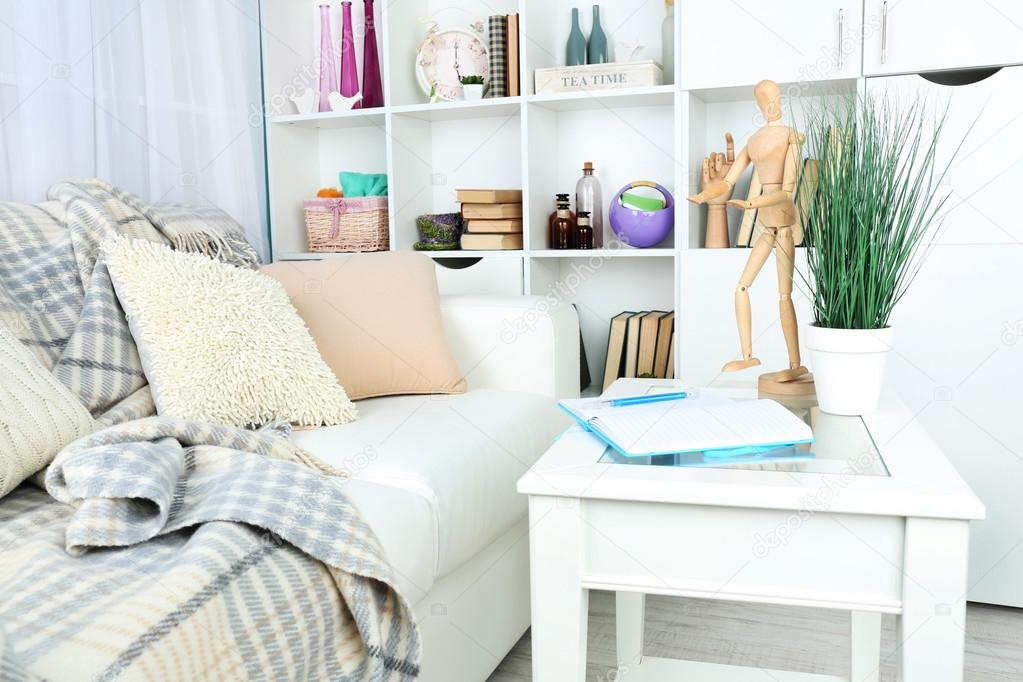 modernes interieur design farben, modernes design wohnzimmer in hellen farben, drinnen — stockfoto, Design ideen