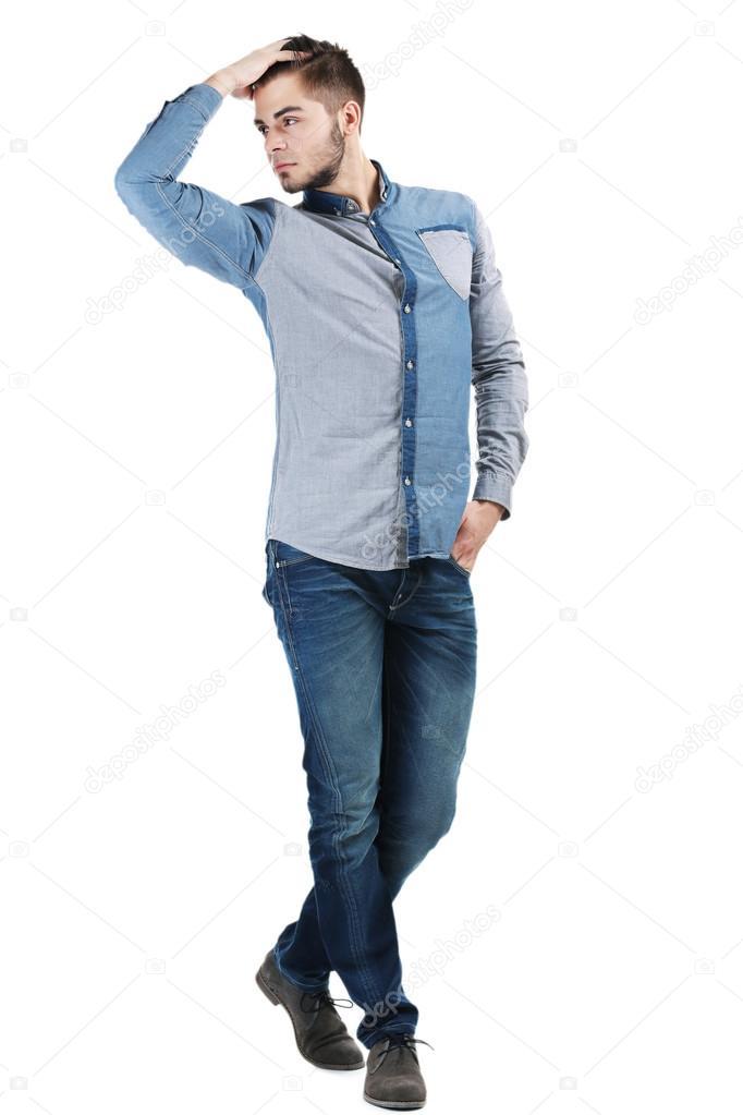 Camicia Camicia Uomo Jeans Su Azzurra Azzurra TPiuOkZX