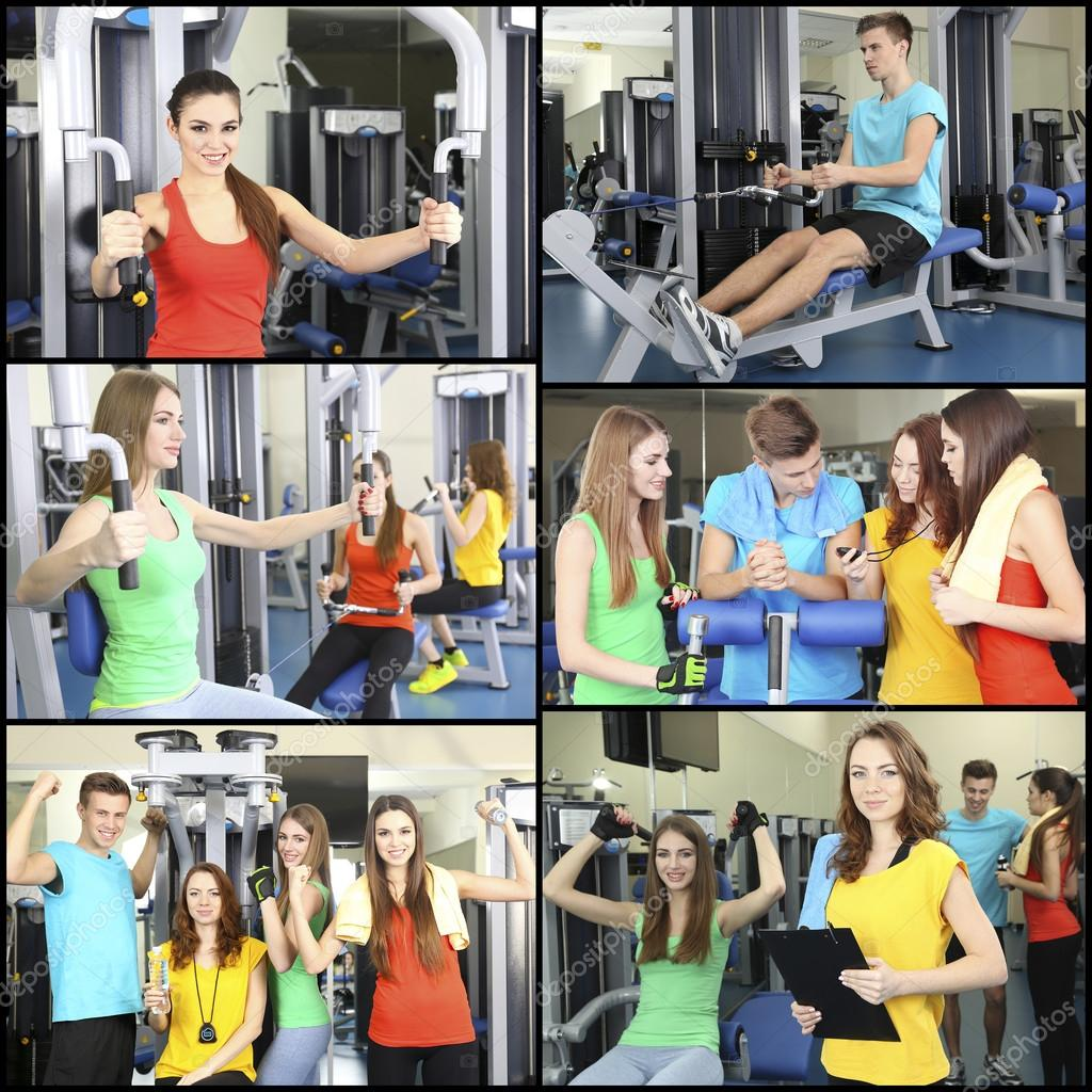 Collage de fotos con los j venes entrenamiento en for Gimnasio yong