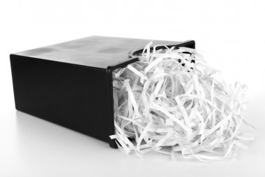 Strips of destroyed paper