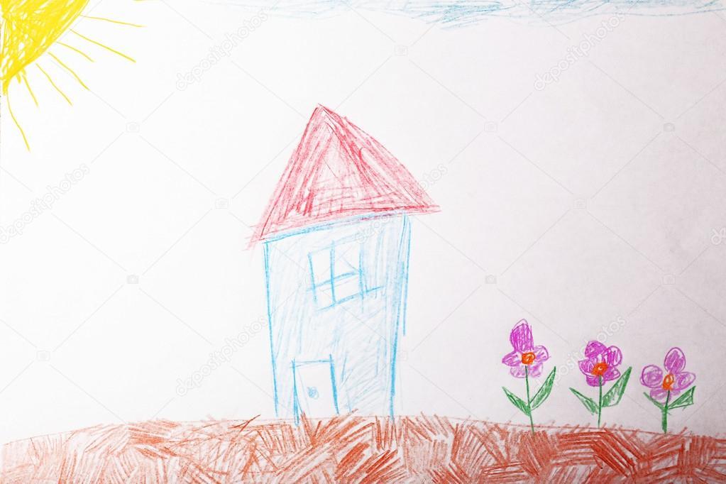 Niños dibujar en hoja blanca de papel — Foto de stock © belchonock ...