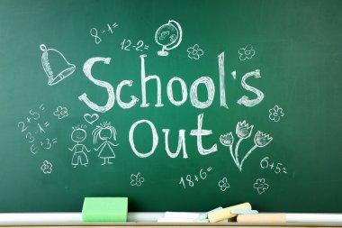 Inscription on blackboard background