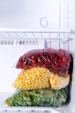 Frozen vegetables in bags