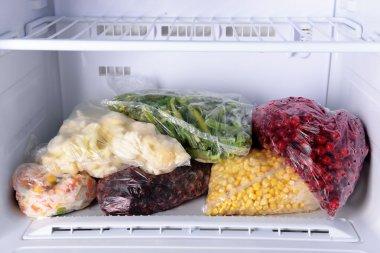 Frozen berries and vegetables