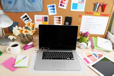 Working place of designer