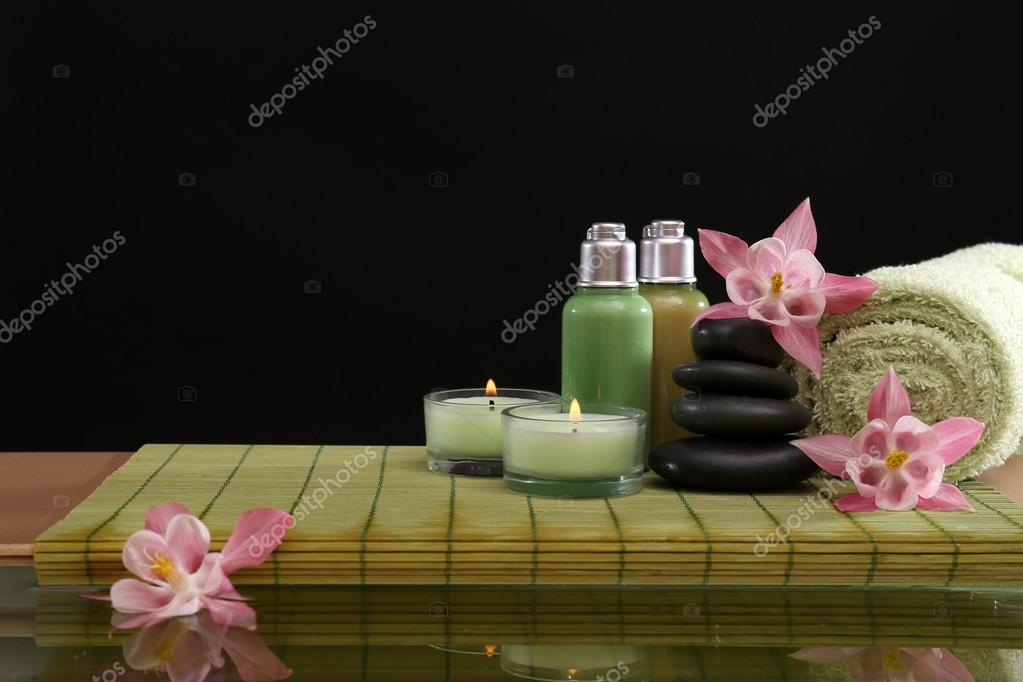 Spa still life with flowers