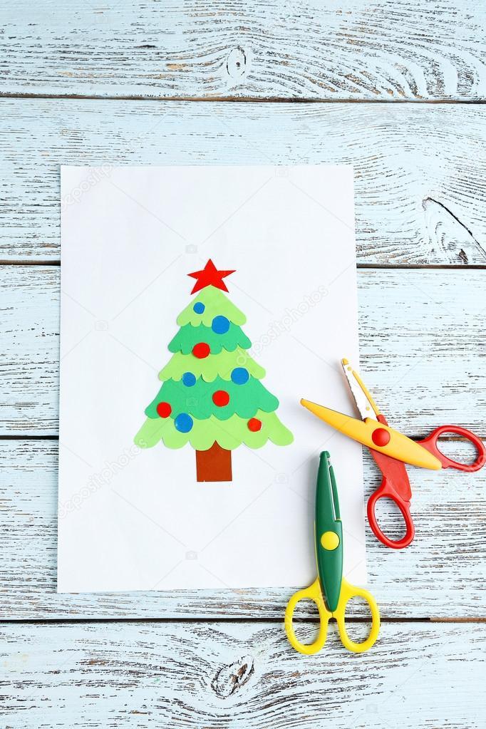 árbol de Navidad de papel creativo — Foto de stock © belchonock ...