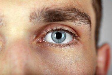 Beautiful blue man eye