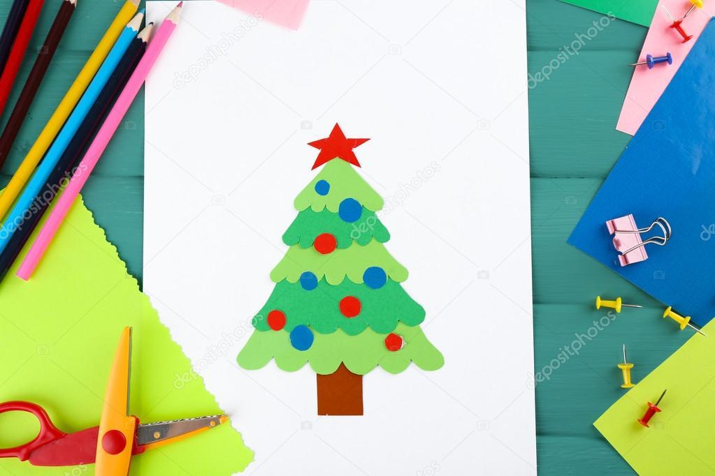 árbol de Navidad de papel creativo — Fotos de Stock © belchonock ...