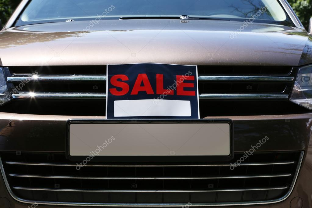 for sale car sign