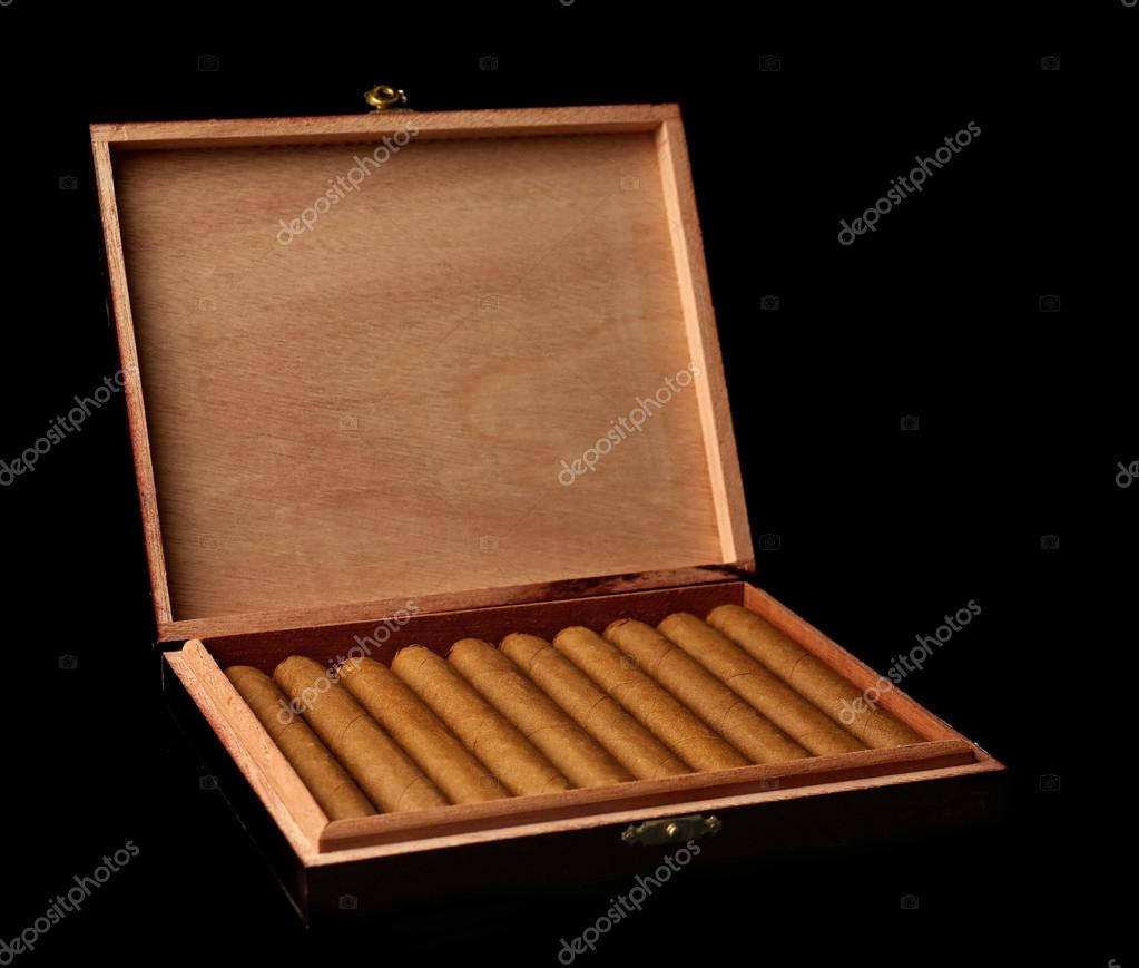 Cigars In Wooden Box Stock Photo Belchonock 79730138