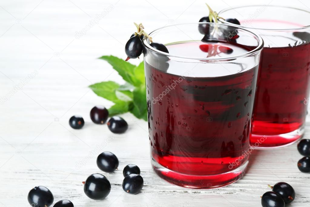 svarta vinbär juice