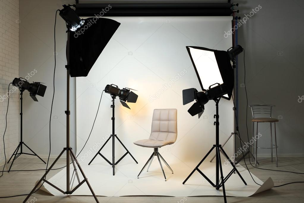Studio fotografico con interni moderni foto stock for Interni moderni foto