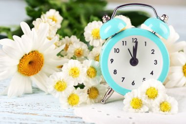 Small alarm clock with beautiful flowers