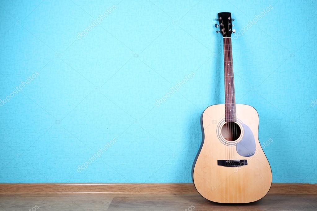Wallpaper Guitar Classic Classical Guitar On Blue