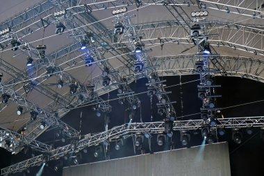 Spotlights illumination during event