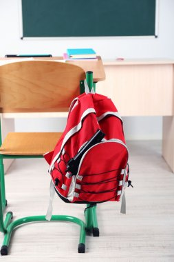 Backpack with gun in classroom