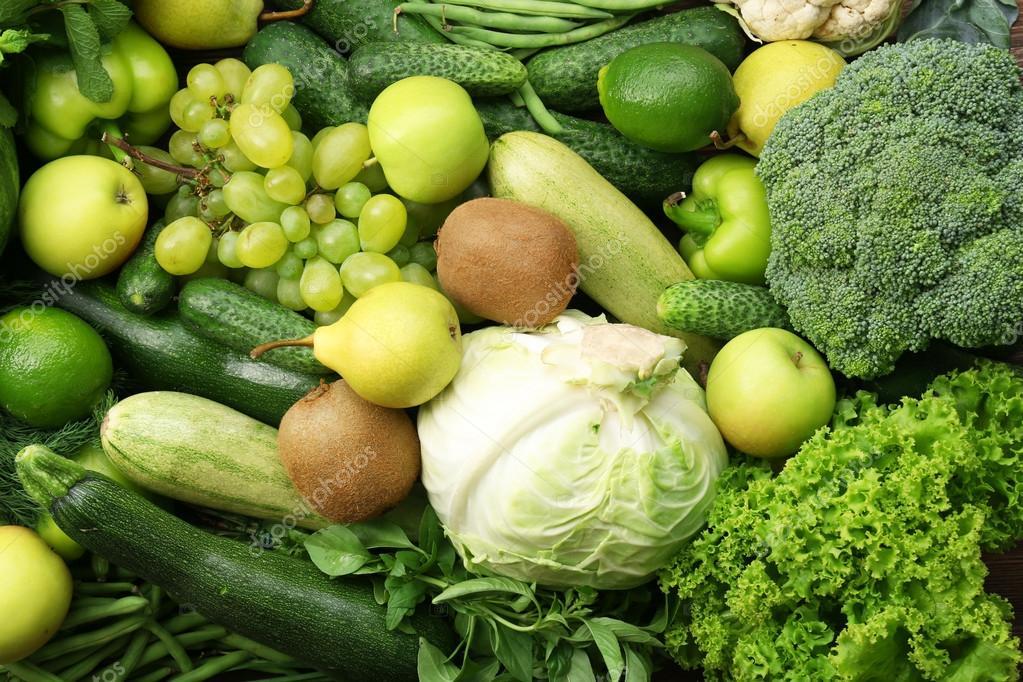 Цвета картинки зеленый фрукты овощи