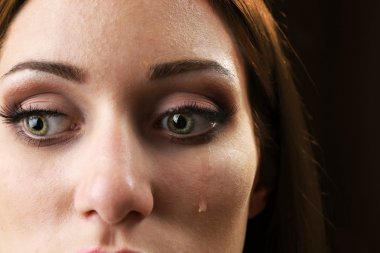 woman with tear drop