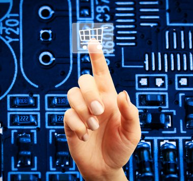 Future technology concept integrates electronics