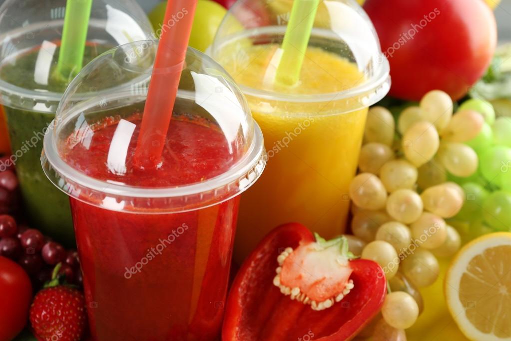 Frischer Saft Mischung Obst, gesunde Getränke — Stockfoto ...