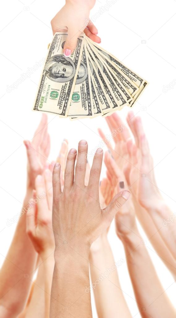 Image result for Hands out for money