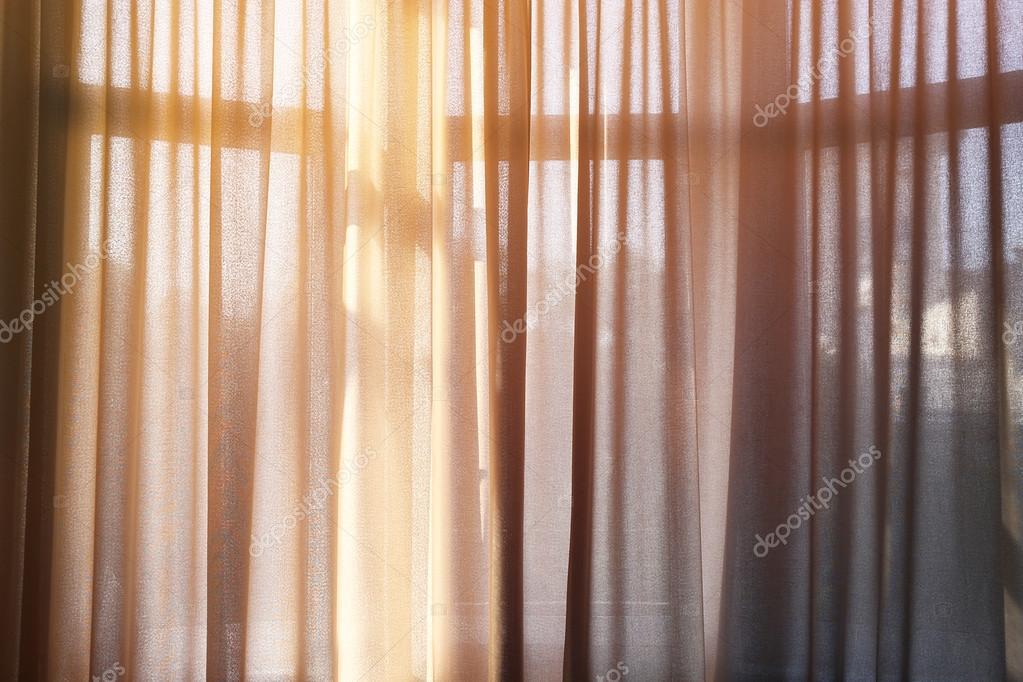 venster met mooie gordijnen — Stockfoto © belchonock #87849318