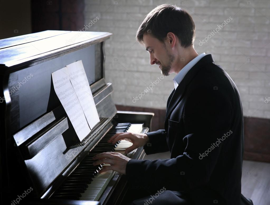 Handsome Man Photo With Piano 43