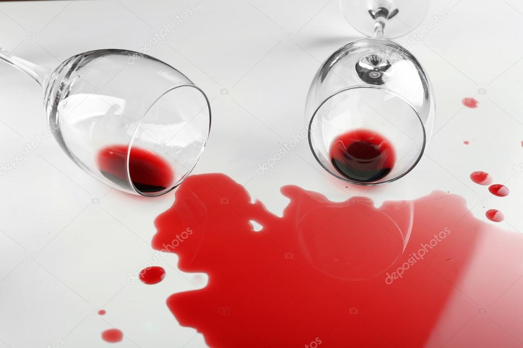 spilled wine from glasses stock photo belchonock 88282898