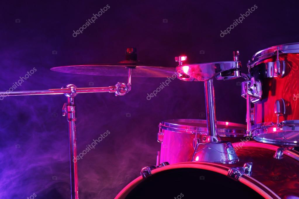 Drum Set On A Stage Stock Photo C Belchonock 88333192