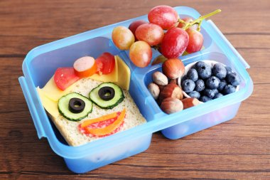 Creative sandwich with fruits