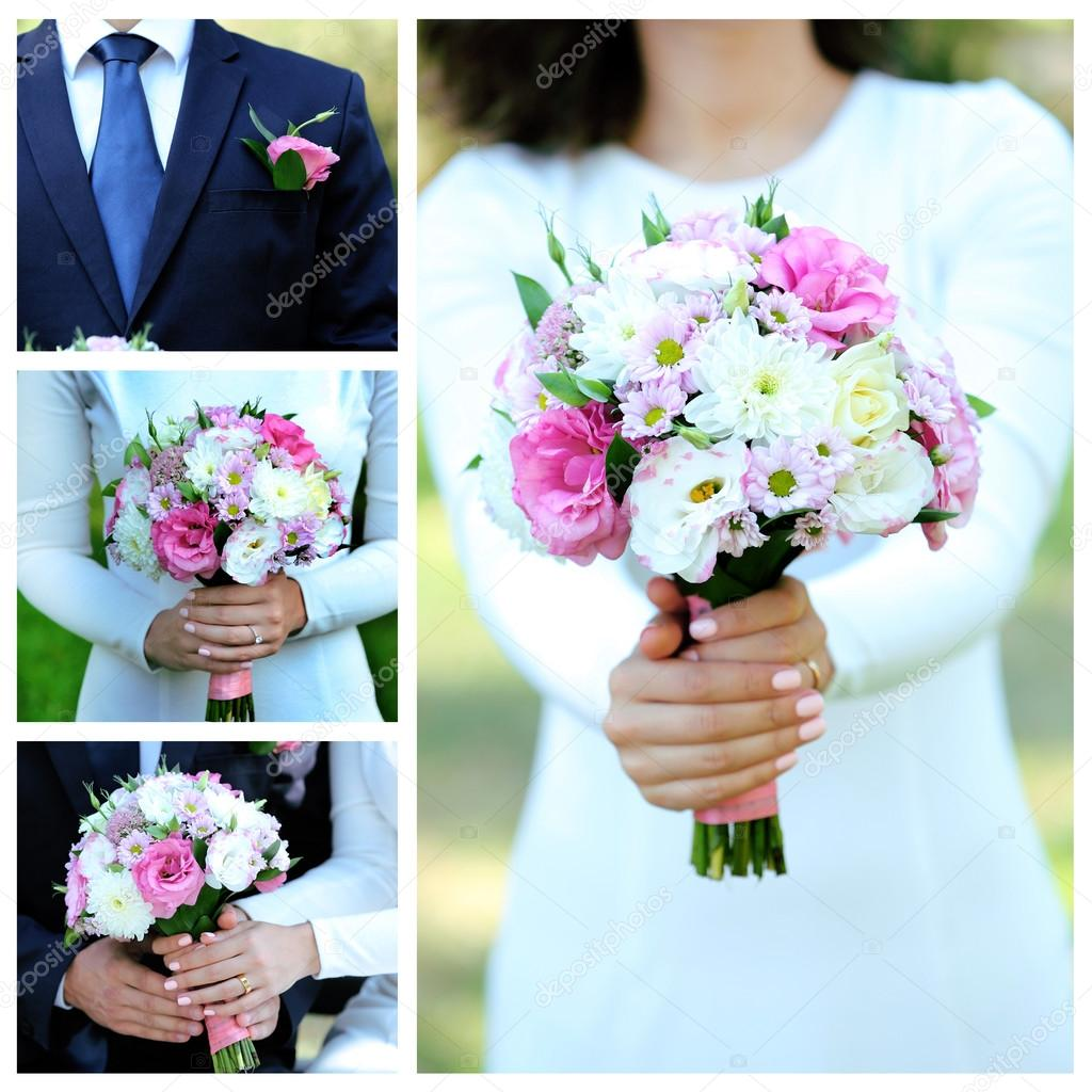 Schone Hochzeit Collage Stockfoto C Belchonock 89943112