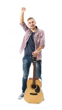 Young musician with guitar