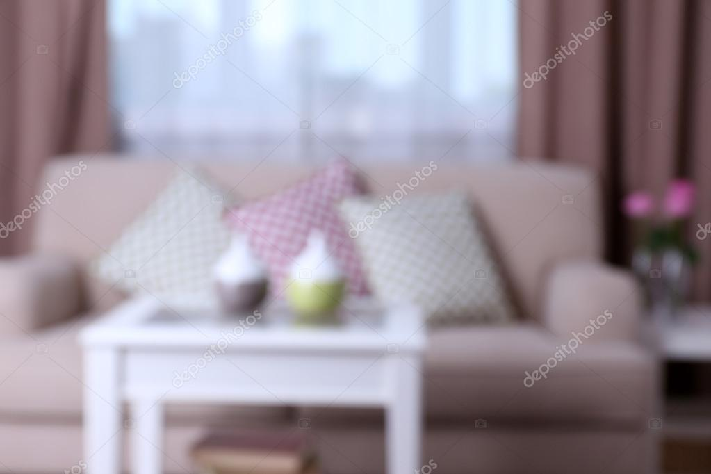 Beige Sofa With Beautiful Pillows Stock Photo C Belchonock 91275294