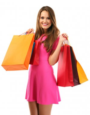 woman with shopping package