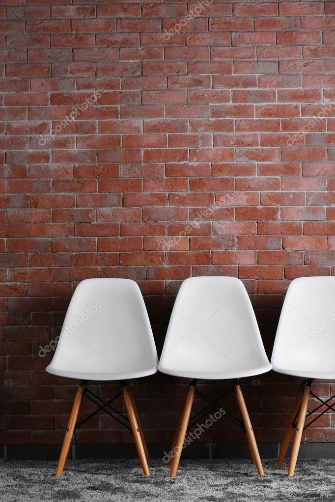 Sedie moderne bianche — Foto Stock © belchonock #91889412