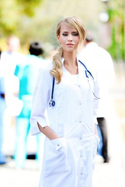 Beautiful smart woman doctor