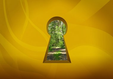 Keyhole door to nature