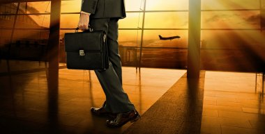 Business man with suitcase