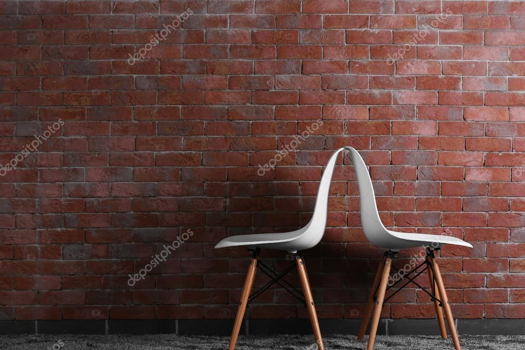 Sedie moderne bianche u foto stock belchonock