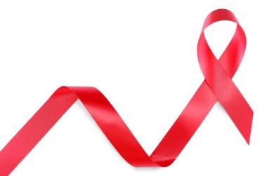 Red ribbon sign