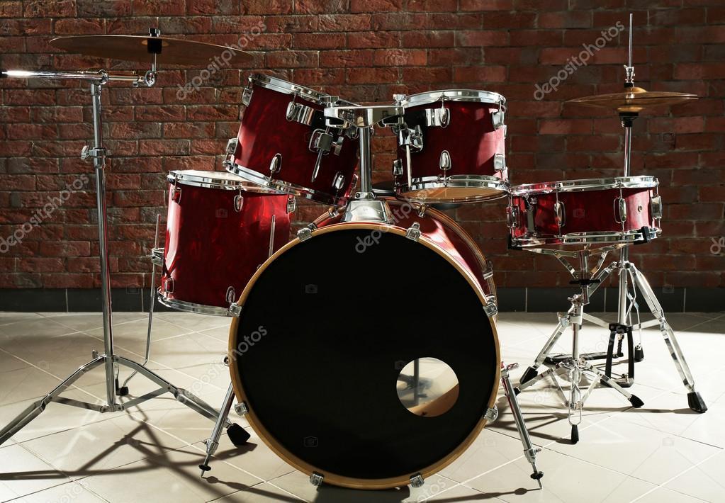 Drum Set On Stage Stock Photo C Belchonock 96035104