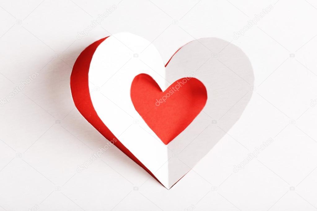 Papier-Herzen ausgeschnitten — Stockfoto © belchonock #96592732