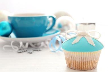 decorated tasty cupcake
