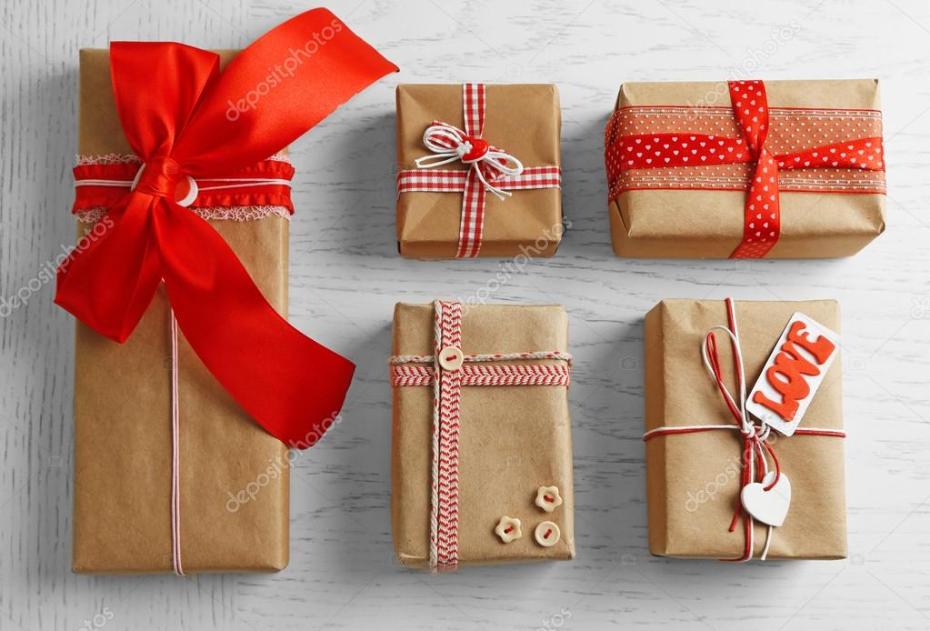 Set of wrapped gifts stock photo belchonock 97386608 set of wrapped gifts stock photo negle Choice Image