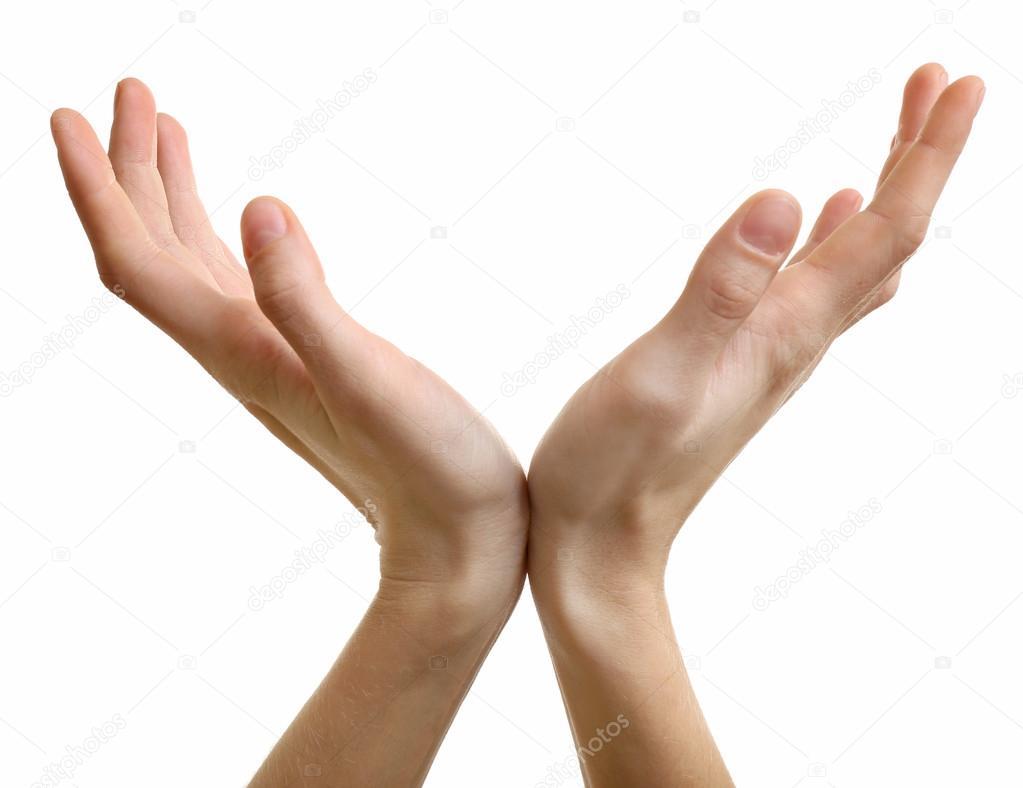 two hands posing stock photo belchonock 97731558