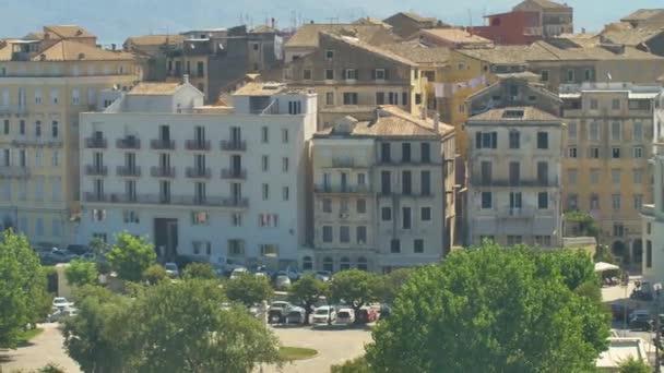 Panorama der Hauptstadt von Korfu. Blick auf Altstadt und alte Festung, Griechenland