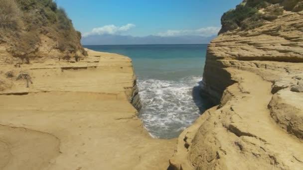 Sehenswürdigkeiten von Korfu: Canal D amour, Griechenland.