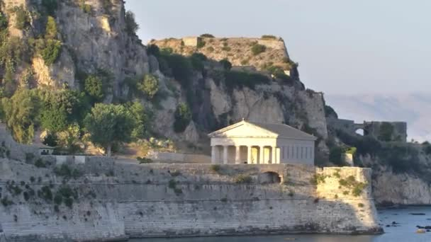 Panorama of capitol of Corfu. View of old town and old fort, Greece