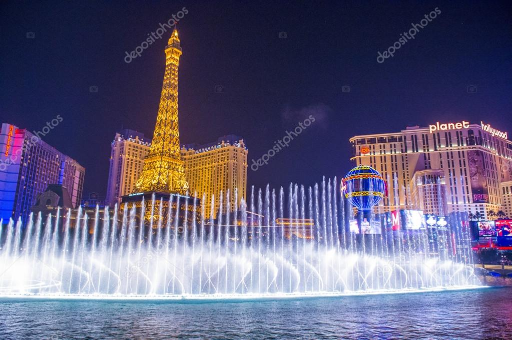 Фототюль фонтаны в лас вегасе